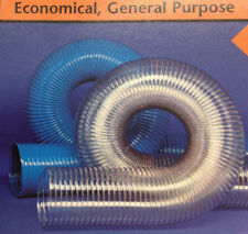 3-1/2''ID CVD CLEAR PVC HOSE/DUCTING WITH WIRE HELIX, 50 Ft
