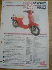 Honda NS 50 Melody Deluxe Family Moped brochure 1981
