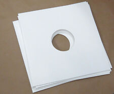 """100 x LARGE 12"""" LP WHITE CARD GLOSS FINISH RECORD VINYL SLEEVES COVERS"""
