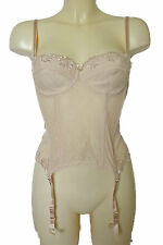 BNWT Sexy Ladies Nude Lace Underwired Strapless Bustier Size 34B Free UK Post