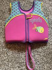 New listing Kids Speedo Life Vest Girls 4-6yo 45-60lb 24�chest Perfect Condition Uv 50