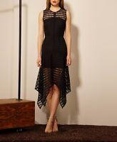 New With Tags Adelyn Rae Black Lace Handkerchief Hem Dress
