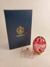 Faberge Crystal Pink Egg 437 In Box