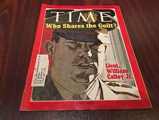 1971 APRIL 12 TIME MAGAZINE- LIEUT. WILLIAM CALLEY JR