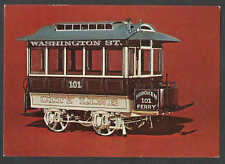 Ca 1970 PPC* SINGLE HORSE DRAWN TROLLEY LIKE CAR Ca 1885 USED IN SEE INFO