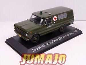 SER15 1/43 SALVAT Vehiculos Servicios FORD F 100 1969 Croix rouge ambulance