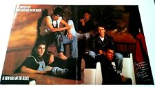 New Kids On The Block (1990) Large Rare Original Print Promo Poster Ad