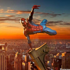 "9"" Marvel SpiderMan Spider Man Sence Jump Ver PVC Action Figure Statue 3D Model"