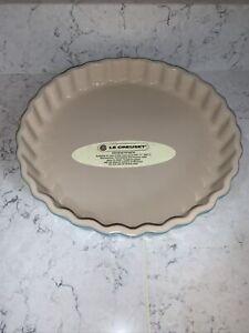 LE CREUSET Fluted Flan Pie Quiche Round Dish Blue 10 inch 25cm