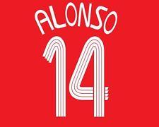 Alonso #14 Liverpool 2006-2008 Hogar Camiseta de fútbol local para la Liga de Campeones