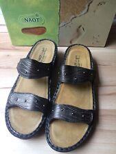 NAOT Lavender Sandal Slide Slip On Copper Leather Brown Comfort US 10 Euro 41