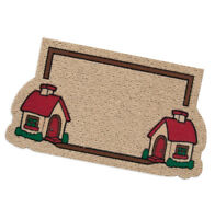 Zerbino rettangolare case antiscivolo assorbente 40x70 tappeto esterno classico