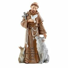 "8"" Saint Francis of Assisi Saints of God Art Resin Statue"