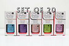 LOT 20 CND SHELLAC UV GEL NAIL POLISH COLOR KIT SET 7.3ml / 0.25oz Choose Any