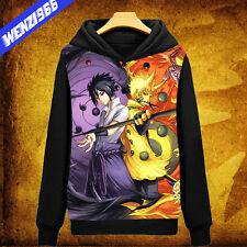 Anime Naruto Uzumaki Sasuke Uchiha Pullover Hoodie Sweatshirt Jacket Coat #CY-42