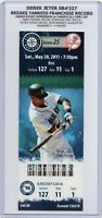 Derek Jeter SB #327 BREAKS YANKEES RECORD 2011 Mariners Yankees 5/28 Full Ticket