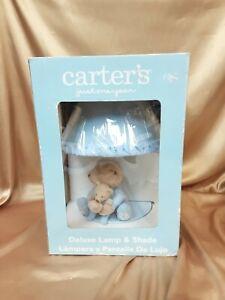 Carter's Lamp Base and Shade Bear & Little Bear Hugging Blue NEW IN BOX