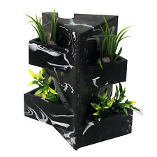 Hagen Fluval Edge Aquarium Fish Tank Black Marble Effect Ornament Plant Holder