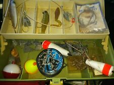 Plano Green Tackle Box Loaded Lures-Jigs- Hooks ~ Soft Plastic Tacklebox