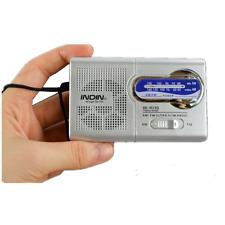 Mini Portable AM / FM Radio World Band récepteur haut-parleur antenne télescopiq