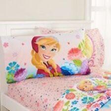 Disney Movie Frozen, Featuring Anna, Girl's 4pc Full Sheet Set pink