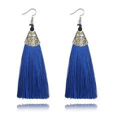 Vintage Long Tassel Drop Earrings Boho Bohemian Fringe Tassel Earrings for Women