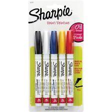Paint Markers Sharpie Fine Oil-based Nontoxic 5/PK AST 37371PP