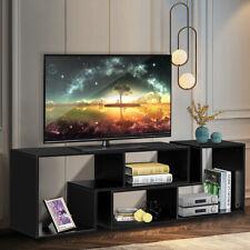 TV Stand Cabinet Unit DIY Bookcase Bookshelf Display Entertainment Center Black