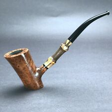 Road Town Bamboo Poker Style Briar wood craft pipe -unsmoked