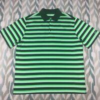 Nike Golf Men's Short Sleeve Polo Button Front Shirt Green Dri Fit Size XL