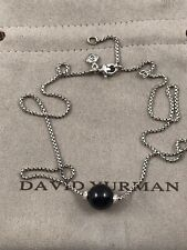 DAVID YURMAN SOLARI NECKLACE WITH ONYX