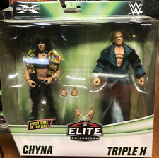 WWE TRIPLE H AND CHYNA DX 2 PACK EXCLUSIVE ELITE TOY ACTION FIGURES MOC RARE