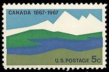 1967 Canada Centenary 5 cents US Postage Stamp Scott #1324 MINT