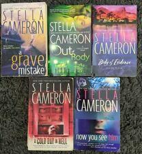 STELLA CAMERON ROMANTIC SUSPENSE BOOK LOT OF 5 PAPERBACK NOVELS FREE SHIPPING!