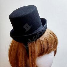 Wool Felt Mini Topper Top Hat Women Fascinator | Black | CLASSIC x FORMAL x NEW