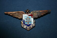 WW2 FREE FRENCH FRANCE LIBRE AIR FORCE PILOT WING BADGE FAFL NUMBERED
