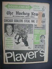 The Hockey News January 9, 1970 Vol.23 No.14 Denis DeJordy Tony Esposito Jan '70