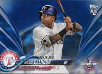 Willie Calhoun 2018 Topps Opening Day Edition BLUE FOIL PARALLEL RC #118 Rangers