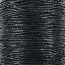 0,6 mm de algodón encerado, cable de hilo Shamballa De Macramé De Joyas-Negro - 10 Metros
