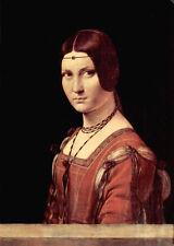 Oil painting Leonardo da Vinci - Portrait of a Lady called La Belle Ferronniere