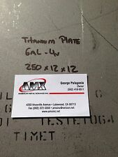 "TITANIUM PLATE 6AL-4V .250"" x 12"" x 12"""