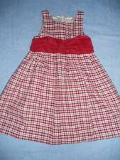 Gymboree Holiday Classic Red Plaid Christmas Portrait Party Dress Size 5 Outlet