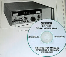 Singer SG-1000 Signal Genrator  Instruction (Operating + Service)  Manual