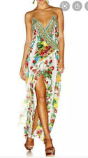 Camilla Theres No Place Like Rio Wrap Dress $4 EXPRESS Size Large 3 Franks Silk