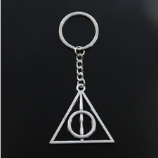 Chain Metal Men Key Ring Holder New Fashion Deathly Hallows Pendant Key