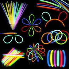 100PCS Mixed Color Glow Sticks Chemical Light Sticks Shinning Bracelet Halloween