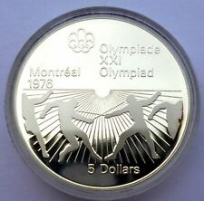 Canada 5 Dollars 1976 Silver coin Proof Fencing - Montreal Olympics Games 1976 !