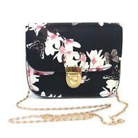 Women Floral Small Mini Chain Bag Shoulder Bag Tote Purse Handbag Messenger #