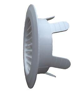 Lüftungsgitter / Abluftgitter Fertiggarage 90-125 mm, Klemmfinger, rund, Garage