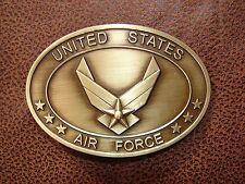 U.S. AIR FORCE Brass Plated Belt Buckle